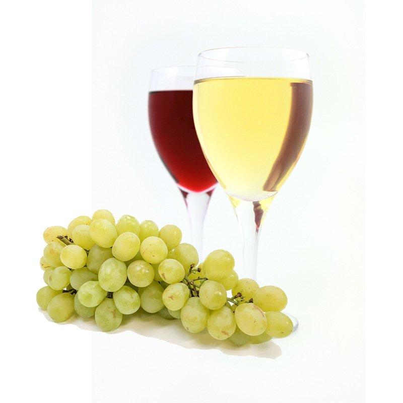 Uva e calici di vino