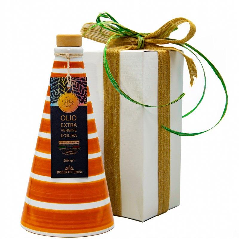 orcio in ceramica arancio